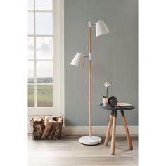 Vloerlamp / Lampadaire Rubi Lampe sur pied en bois et métal. Staande lamp in hout en metaal.