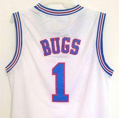 e32b472ba Bugs Bunny 1 Space Jam Tune Squad Basketball Jersey White S M L XL XXL