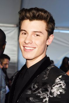 Shawn Mendes smiling