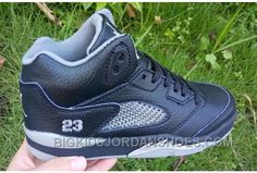 http://www.bigkidsjordanshoes.com/discount-kids-air-jordan-5-black-metallic-silver-basketball-shoes.html DISCOUNT KIDS AIR JORDAN 5 BLACK METALLIC SILVER BASKETBALL SHOES Only $85.00 , Free Shipping!
