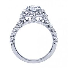 Contemporary Halo Engagement Ring ER7488W44JJ
