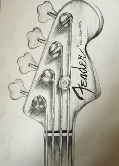 Fender guitar, pencil drawing by me!