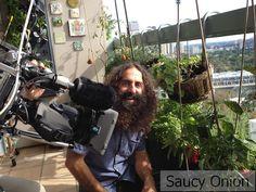 Costa and the edible Balcony garden