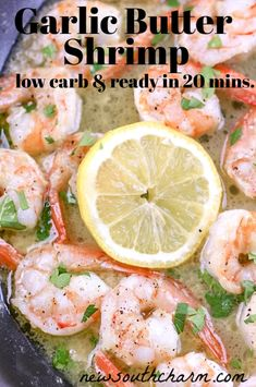 Garlic Butter Shrimp will be your new go to dinner for busy nights. This easy recipe only takes to make and tastes like it came from a restaurant! Lose of Fat Every 72 Hours! Learn the Fast Weight Loss Best Easy Dinner Recipes, Easy Chicken Recipes, Veggie Recipes, Delicious Recipes, Top Recipes, Lobster Recipes, Shrimp Recipes, Salmon Recipes, Shrimp Dishes