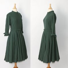 1950s Wool Dress by Stop the Clock Vintage