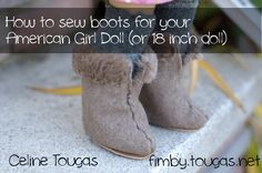 How to make boots for your American Girl Doll (or other 18 inch dolls) @Renee Peterson Peterson Peterson Peterson Peterson Peterson Peterson Tougas