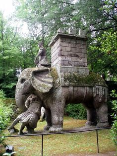 The Park of the Monsters (Parco dei Mostri in Italian-language), also named Garden of Bomarzo, is a Manieristic monumental complex located in Bomarzo, in the province of Viterbo, in northern Lazio, Italy.