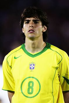 A portrait of Kaka of Brazil prior to the 2006 World Cup Qualifier South American Group match between Uruguay and Brazil at the Centenario Stadium on. Brazil Football Team, Football Players, Ricardo Kaka, George Weah, American Group, World Cup Qualifiers, Atomic Blonde, Football Photos, Don Juan