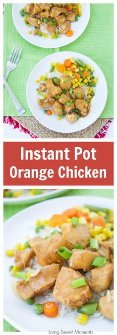 Instant Pot Orange Chicken - this delicious instant pot chicken recipe is ready in 15 minutes or less and is perfect for a quick weeknight dinner idea. More delicious instant pot recipes at livingsweetmoments.com