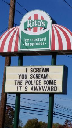 "A different take on ""I scream, you scream, we all scream for ice cream""."