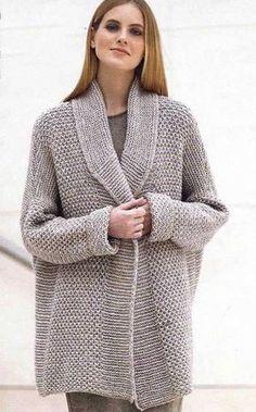 Duży sweter otulak, Wspaniały sweter na drutach na zimne dni