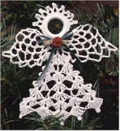 """Watch Maggie review this beautiful Lacy Angels Set! ) Design By: Maggie Weldon Skill Level:Easy Size:Pineapple Angel:4"""" wide x 5"""" tall Fringe Angel: 3-1/2"""" wide"""