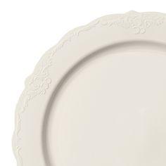 1607 9  Vintage Ivory Plastic Buffet Salad Plates | It could happen...... | Pinterest | Salad plates Weddings and Wedding  sc 1 st  Pinterest & 1607 9