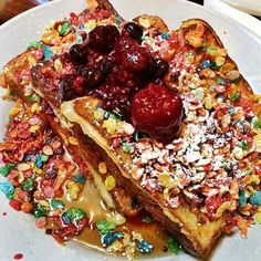 Any spot that serves Fruity Pebbles French Toast is aces in our book — plus, there's free coffee while you wait! Flo, 1434 West Chicago Avenue (near North Bishop Street); Chicago Vacation, Chicago Travel, Chicago Trip, Brunch In Chicago, Restaurants In Chicago, Chicago Coffee, Usa Travel, West Chicago, Chicago Girls