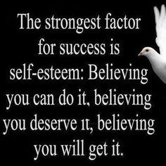 Lifehack - Strongest factor for success is self-esteem  #Selfesteem, #Success