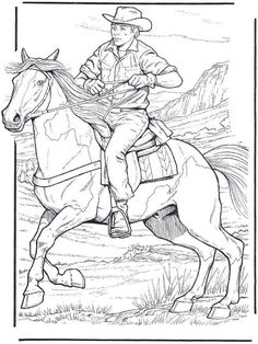 cowboy texas coloring pages - Enjoy Coloring