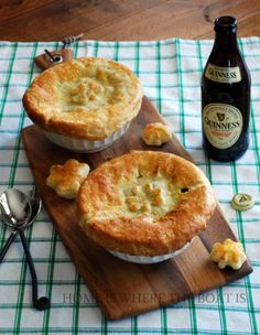 Feast like the Irish with these Guinness mini pies. For even more fun, make shamrocks out of your leftover pastry.