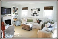 Naptime Decorator: Family Room Makeover: The Reveal! Natural Paint Colors, Favorite Paint Colors, Living Spaces, Living Rooms, Home Fashion, Interior Inspiration, Family Room, Sweet Home, Sea Salt