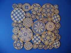 Frame doilies for wall decoration!