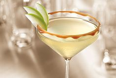 Caramel Appletini - half apple juice or cider, half smirnoff kissed caramel vodka. it is so good, you might die. and you'd never even know it had alcohol in it.