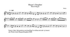 Megan's Daughter (Waltz) [WT1679] Tune of the Day (@WTtuneoftheday) | Twitter