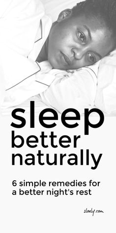 Learn how to sleep better naturally with these simple but effective natural sleep remedies. They will help you fall asleep, stay asleep and wake up fully rested rather than exhausted from tossing and turning all night. #sleep #fallingasleep #deepsleep #sleeptips #naturalhealth