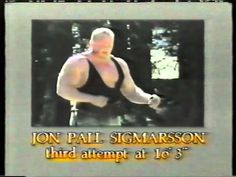 What a classic. 1987, the goode olde days... Geoff Capes (UK) -vs- Jón Páll Sigmarsson (Iceland) -vs- Bill Kazmaier (US)