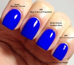 Fierce Makeup and Nails: OPI: Blue It Out of Proportion Comparison Post