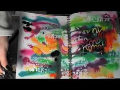 Mixed Media Friday Tutorial - Art Journal page with a Splash of color - YouTube
