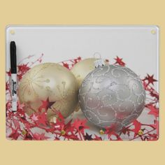 Christmas Ornaments Sparkle Dry Erase Whiteboards. This is a great inspiration for some of the lovely things we have at https://www.facebook.com/WestTremontHolidayMarket