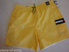 NEW TOMMY HILFIGER mens Swim Trunks Suit Shorts XXL 2X 2XL Board Short YELLOW