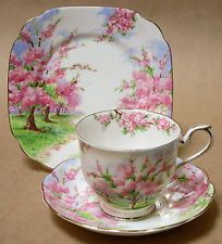 VINTAGE ROYAL ALBERT BLOSSOM TIME TRIO CUP SAUCER PLATE