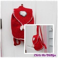 Liten tovet ryggsekk Straw Bag, Crochet Hats, Blog, Design, Fashion, Knitting Hats, Moda, Fashion Styles