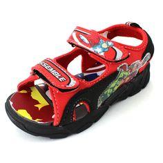 b932ffe4410 Avengers Hulk Thor Boys Red Lighted Sport Sandals Shoes AVS601 7 8 9 10 11  12 #Marvel #Sandals