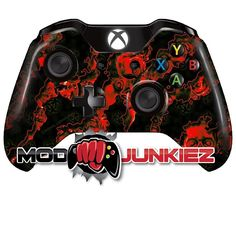 Hydro Dipped Red Reaper Zombie Xbox ONE Controller