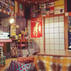 Miyoko Ihara has been taking photographs of her grandmother, Misao and her beloved cat Fukumaru since their relationship began in Their closeness has been captured through a series of lovely photographs. Whimsical Bedroom, Otaku Room, Indie Room, Cute House, Vintage Graphic Design, Room Goals, Aesthetic Rooms, Pink Room, Beauty Room