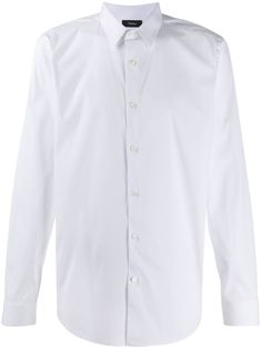 White cotton long sleeved shirt from Theory featuring a front button fastening, long sleeves, a curved hemline and fitted cuffs. Size Clothing, Hemline, Long Sleeve Shirts, Women Wear, Theory, Shirt Dress, Mens Fashion, Sleeves, Mens Tops