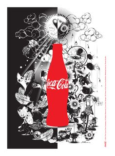 Kiss The Past Hello. Coca-Cola Design: 100 Years of the Coca-Cola Bottle. #MashupCoke by: Phunk Studio @phunk_sg