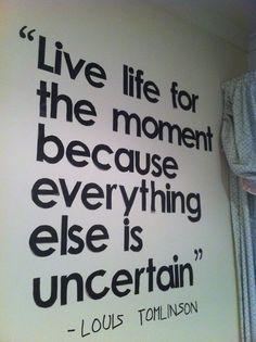 life quotes / Tumblr (louis tomlimson,1d,one direction,quote,good quote)