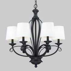 Z-Lite 6-Light Charleston Matte Black Chandelier