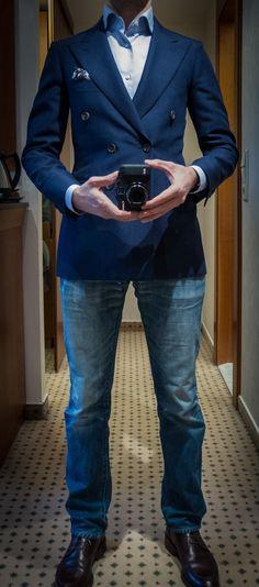 Bespoke Sartoria RipenseDior Homme jeansFinamore shirtCarmina boots