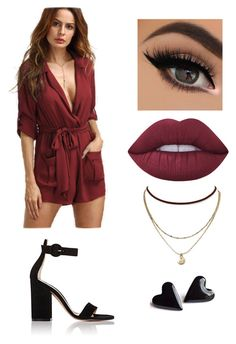 """Untitled #379"" by valerialoman on Polyvore featuring Gianvito Rossi, Lime Crime and Aqua"