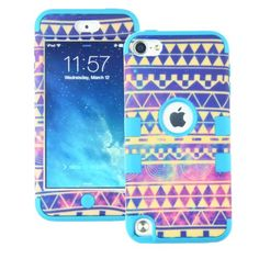 MagicSky PC + Silicone Galaxy Tribal Pattern Case for Apple iPod Touch 5 5th Generation - 1 Pack - Retail Packaging - Blue:Amazon:Cell Phones & Accessories