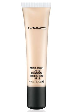 M·A·C 'Studio Sculpt' SPF 15 Foundation available at #Nordstrom  This foundation is a little thicker than the makeup forever foundation I like, but this does the job just as well