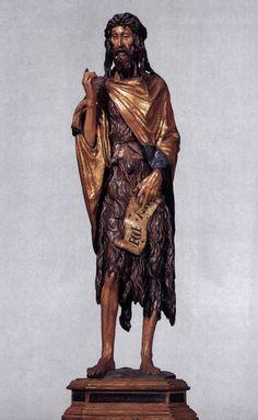 Donatello, John the Baptist, 1438 bois peint, height 141 cm Santa Maria Gloriosa dei Frari, Venise Italian Renaissance, Renaissance Art, Andrea Mantegna, Saint Jean Baptiste, Italian Sculptors, Wood Carving Art, John The Baptist, Famous Art, True Art