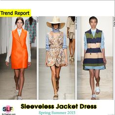 Sleeveless Jacket Dress Trend for Spring Summer 2015. Honor, Karen Walker, and Peter Som #Spring2015 #SS15 #blazer