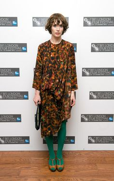 Miranda July in Anntian dress