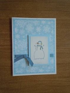 february birthday by - Cards and Paper Crafts at Splitcoaststampers Niece Birthday, February Birthday, It's Your Birthday, Snow Much Fun, Stamp Sets, Snowmen, Your Cards, Snowflakes, Stampin Up