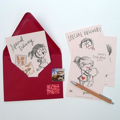 PrintItYourself Valentine's Day Cards by GenevieveSantos on Etsy, $6.00