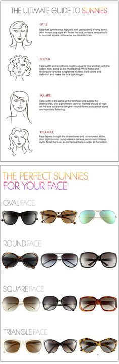 How to Pick the Perfect Sunglasses For Your Face